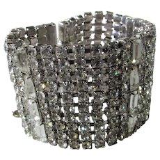 Vintage Clear Crystal Bracelet