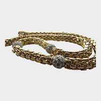 Vintage Goldtone Braided Necklace by Rau Klic-it