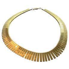 Vintage Graduated Goldtone Snake Chain Necklace