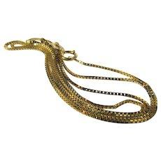 "14 Karat Fine Snake Chain 18"" Long"