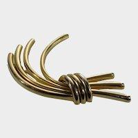 Vintage Signed Germany Goldtone Modernist Pin