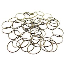 Sterling Silver Vermeil Circle Chain by Danecraft