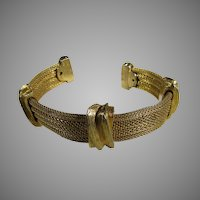 Vintage Goldtone  Rigid Cuff in Classic Style