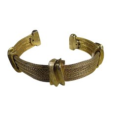 Vintage Goldtone  Rigid Cuff in Classic Style