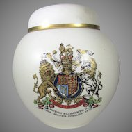 Queen Elizabeth II  1977 Silver Jubilee Ginger Jar With Lid