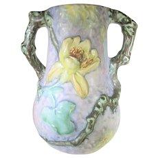 Weller Silvertone Vase Floral Arboreal Vase Mid 1920's