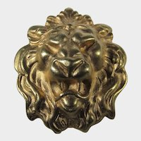 Vintage Goldtone Lion's Head Pin