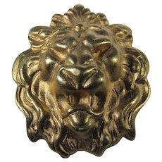 Vintage Goldtone Lion's Head Pin
