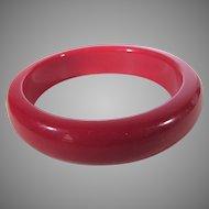 Bakelite Cherry Red Bangle