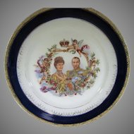 King George V and Queen Mary 1911 Coronation Plate