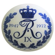 1947 -1972 Royal Copenhagen Memorial Plate For Frederik IX