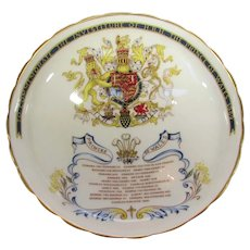 Prince Charles 1969 Investiture As Prince of Wales Candy Dish