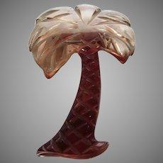 Bakelite Applesauce Palm Tree Brooch