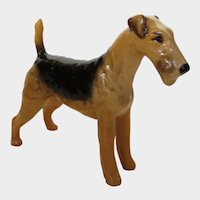 "Beswick Airdale Terrier ""Cast Iron Monarch"" by Arthur Gredington"