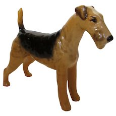 "Beswick Airdale Terrier ""Cast Iron Monarch"" by Arthur Gredington"