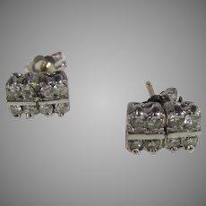 14 Karat White Gold Earrings for Pierced Ears