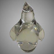 Steuben Signed Crystal Baby Penguin