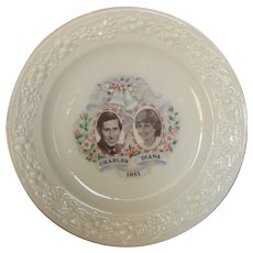 Prince Charles and Lady Diana Marriage Commemorative Plate 1981