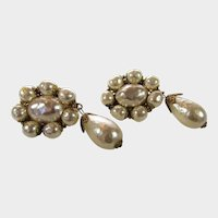 Haskell Clip On Earrings With Faux Pearl Drop