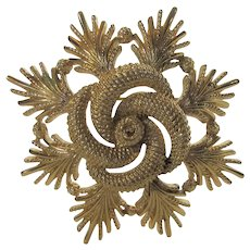 Vintage Goldtone Pin by Monet in Brushed and Polished Finishes
