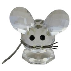 Swarovski Tiny Mouse With Flexible Braided Tail Rare