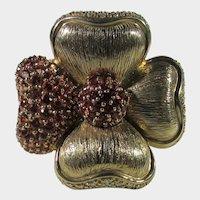 14 Karat Yellow Gold  Ruby and Pink Sapphire DIamond Ring by Sonia B.