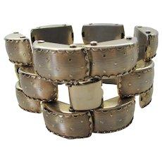 Vintage Chunky Goldtone Multi Link Bracelet