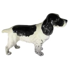 "Beswick Cocker Spaniel ""Horseshoe Primula"" in Black and White"