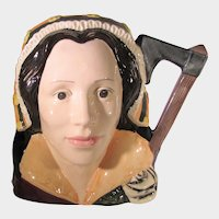Royal Doulton Catherine Howard D6692 in Brown, Gold and White 1977