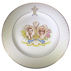 Royal Commemorative Plate in Celebration of the Marriage of Charles and Diana