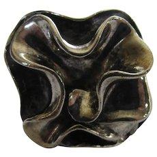 Sterling Silver Modernist Floral Form Ring