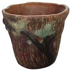 Weller Forest Pattern Vase with Branches and Leaves  Circa 1920's