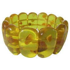 Vintage Clarified Baltic Natural Amber Stretch Bracelet