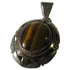 Sterling Silver Tiger's Eye Pendant