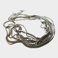 VIntage Chico's Silver Tone Multi Strand Belt