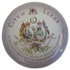 King Edward VII Coronation Plate Given to the Children of Leeds 1902