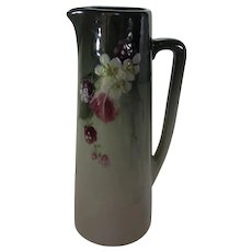 Weller Eocean PItcher with Handle Signed by Mae Timberlake  1910 - 1918