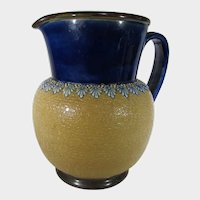 Doulton Lambeth Pitcher in Camel and Navy Blue