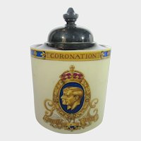 George VI and Queen Elizabeth 1937 Jam Jar With Lid May 12, 1937