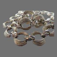 Vintage Mid Century Brushed Goldtone Link Necklace
