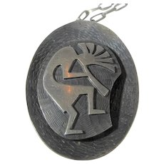 Native American Sterling Silver Kokopelli Pendant on Sterling Silver Handmade Chain