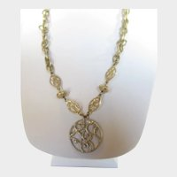 Vintage Lia Sophia Goldtone Adjustable Necklace