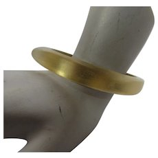 Vintage Alexis Bittar Iridescent Goldtone Bangle