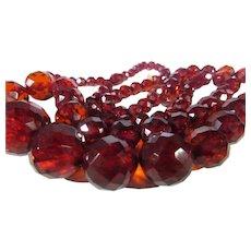 VIntage Cherry Graduated Beads