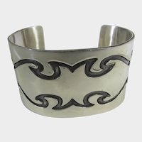 Sterling Silver Cuff in Modernist Design