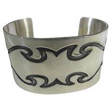 Sterling Silver Cuff in Modernist Design