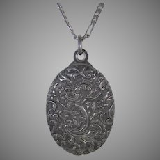 Sterling Silver 19th Century Locket With Mirror