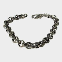 Sterling Silver link Bracelet by Milor Made in Italy