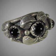 Sterling Silver Native American Ring Navajo Artist Adam Fiero