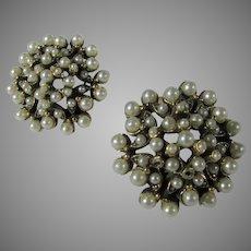 Florenza Clip On Faux Pearl Goldtone Earrings